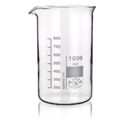 Bicchieri forma alta, con becco, vetro Simax (norma rif. ISO 3819 - DIN 12 331)_For Lab Italia