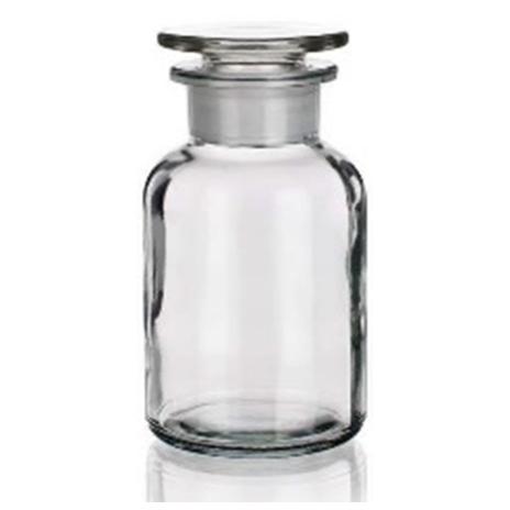 Bottiglie per reagenti, tappo smeriglio, bocca larga, vetro bianco - Cat. 2006-B III classe IDROLITICA_For Lab Italia