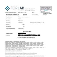 RAPPORTO DI PROVA BILANCE_For Lab Italia