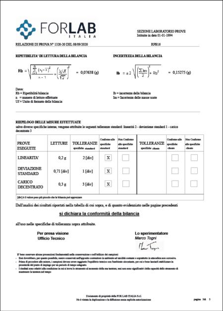 RAPPORTO DI PROVA BILANCE_For Lab Italia_5